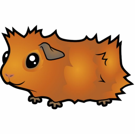 Cartoon Guinea Pig scruffy Acrylic Cut Out Zazzle