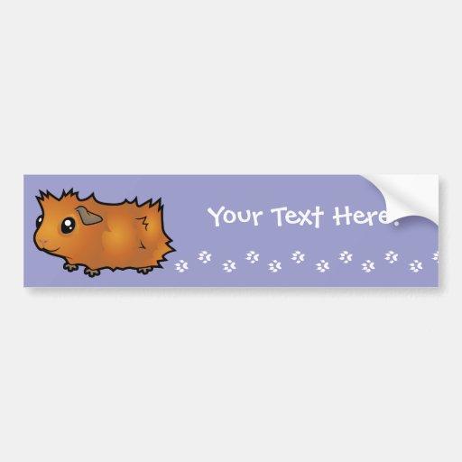 Cartoon Guinea Pig (scruffy) Bumper Sticker