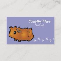 Cartoon Guinea Pig (scruffy) Business Card