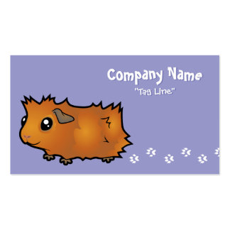 Cartoon Guinea Pig (scruffy) Double-Sided Standard Business Cards (Pack Of 100)
