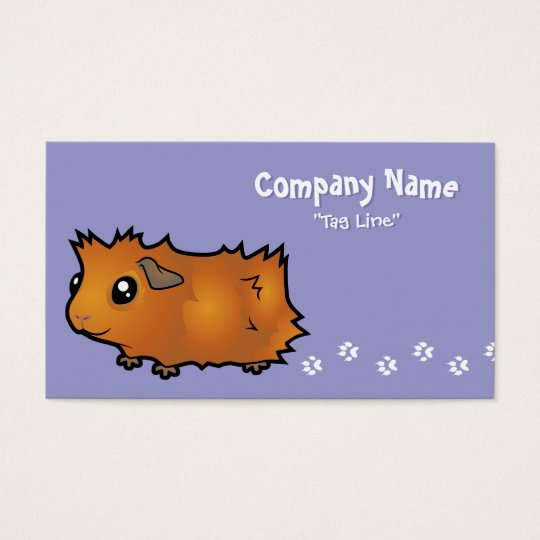 Cartoon Guinea Pig (scruffy) Business Card