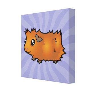 Cartoon Guinea Pig (scruffy) Canvas Print
