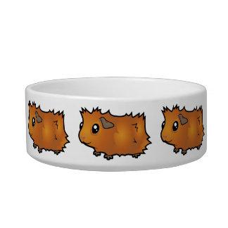 Cartoon Guinea Pig (scruffy) Cat Food Bowl