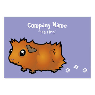 Cartoon Guinea Pig (scruffy) Large Business Card