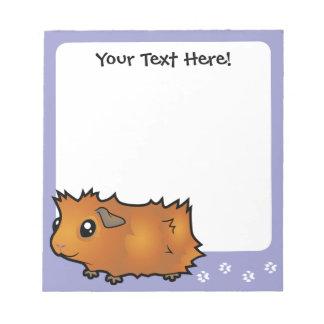 Cartoon Guinea Pig (scruffy) Memo Notepads