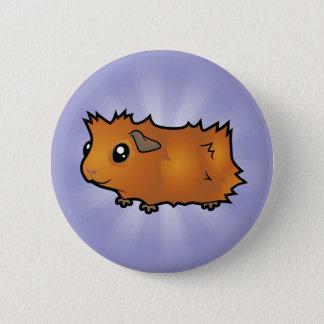 Cartoon Guinea Pig (scruffy) Pinback Button