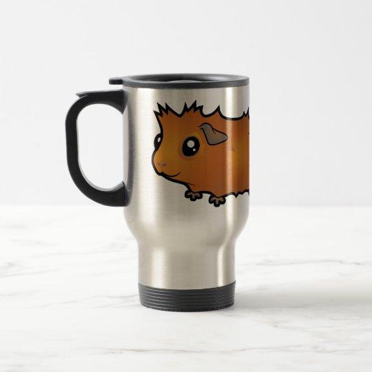 Cartoon Guinea Pig (scruffy) Travel Mug