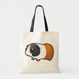 Cartoon Guinea Pig (smooth hair) Budget Tote Bag