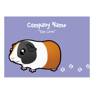Cartoon Guinea Pig (smooth hair) Large Business Cards (Pack Of 100)