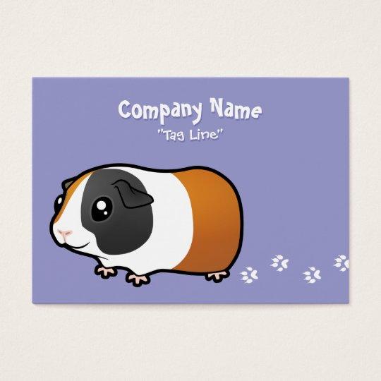 Cartoon Guinea Pig (smooth hair) Business Card