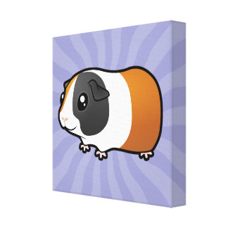 Cartoon Guinea Pig (smooth hair) Canvas Print