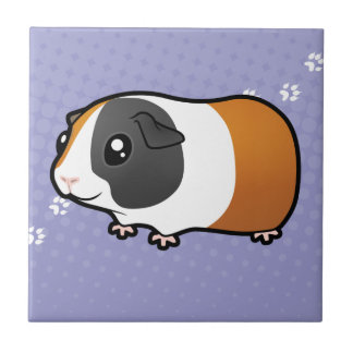 Cartoon Guinea Pig (smooth hair) Ceramic Tile