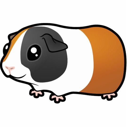 Cartoon Guinea Pig (smooth hair) Cutout