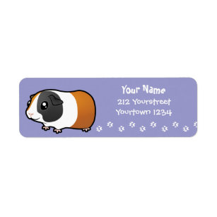 Abyssinian 42 Custom Return Stickers Guinea Pig Personalised Address Labels