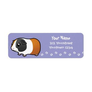Cartoon Guinea Pig (smooth hair) Return Address Labels