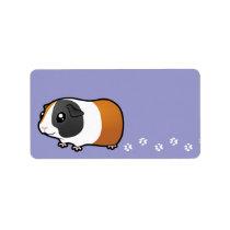 Cartoon Guinea Pig (smooth hair) Label