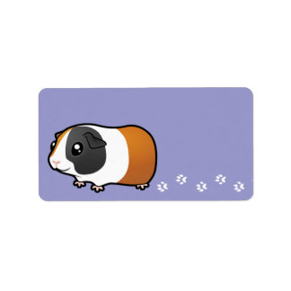 Cartoon Guinea Pig (smooth hair) Label