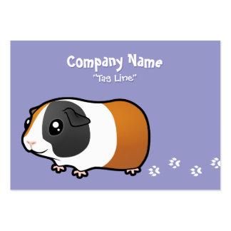 Cartoon Guinea Pig (smooth hair) Large Business Card