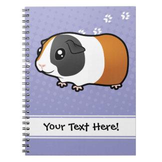 Cartoon Guinea Pig (smooth hair) Notebook