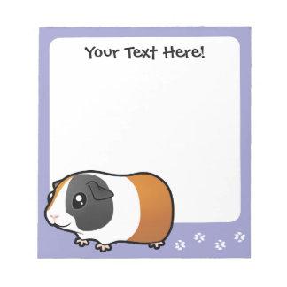 Cartoon Guinea Pig (smooth hair) Notepad