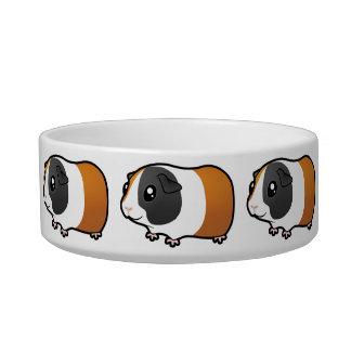 Cartoon Guinea Pig (smooth hair) Cat Water Bowls