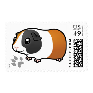Cartoon Guinea Pig (smooth hair) Postage