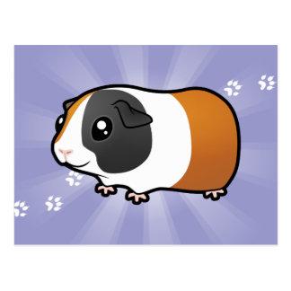 Cartoon Guinea Pig (smooth hair) Postcard