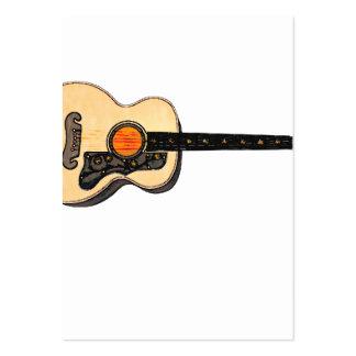 Cartoon Guitar Business Card