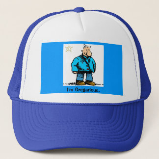 Cartoon Guy Trucker Hat