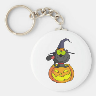 Cartoon Halloween Cat Keychain