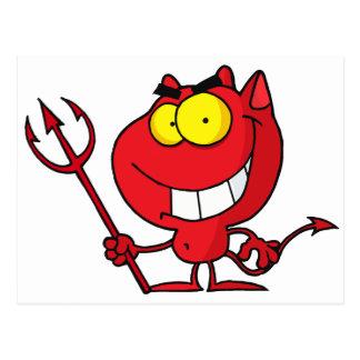 Cartoon Halloween Devil Postcard