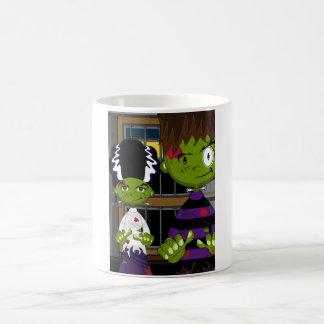 Cartoon Halloween Frankensteins Monster Coffee Mug