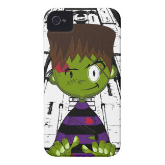 Cartoon Halloween Frankensteins Monster iPhone 4 Cover