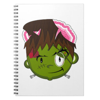 Cartoon Halloween Frankensteins Monster Notebooks