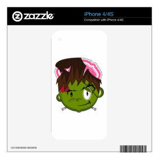 Cartoon Halloween Frankensteins Monster Skin For iPhone 4