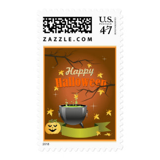 Cartoon Halloween Pumpkin Stamp