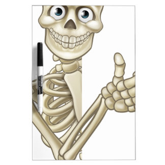 Cartoon Halloween Skeleton Thumbs Up Dry Erase Board