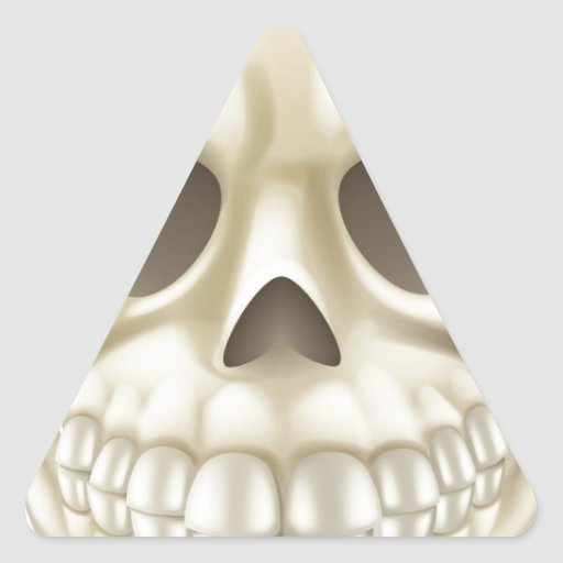 Cartoon Halloween Skull Triangle Stickers
