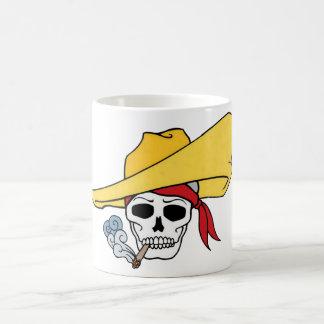 Cartoon Halloween Smoking Skull Hat Bandana Coffee Mugs