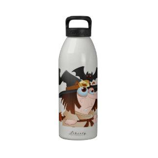 Cartoon Halloween Witch Water Bottle