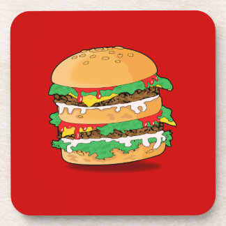 Cartoon Hamburger Beverage Coaster