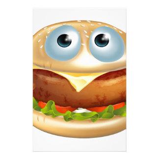 Cartoon hamburger character stationery