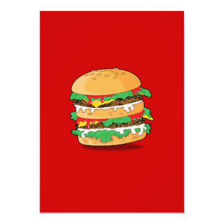 Cartoon Hamburger Invitation
