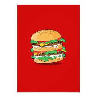 Cartoon Hamburger Invitation