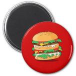 Cartoon Hamburger Magnet