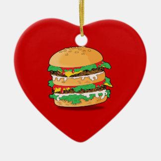 Cartoon Hamburger Ornament