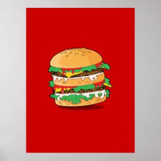 Cartoon Hamburger Print