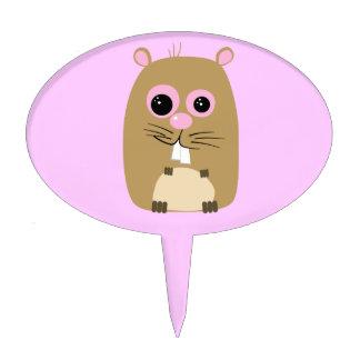 Cartoon Hamster Cake Pick