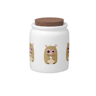 Cartoon Hamster Candy Jar