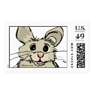 Cartoon Hamster Cute Custom Postage